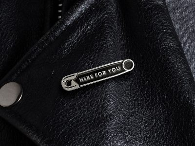 Here For You Enamel Pin